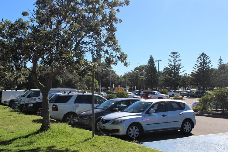 Car park at Maroubra Beach.