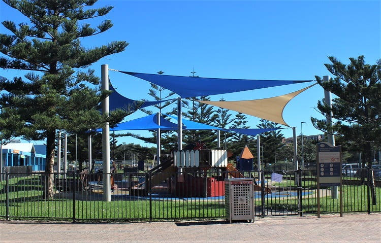 Children's playground at Maroubra Beach, Sydney.