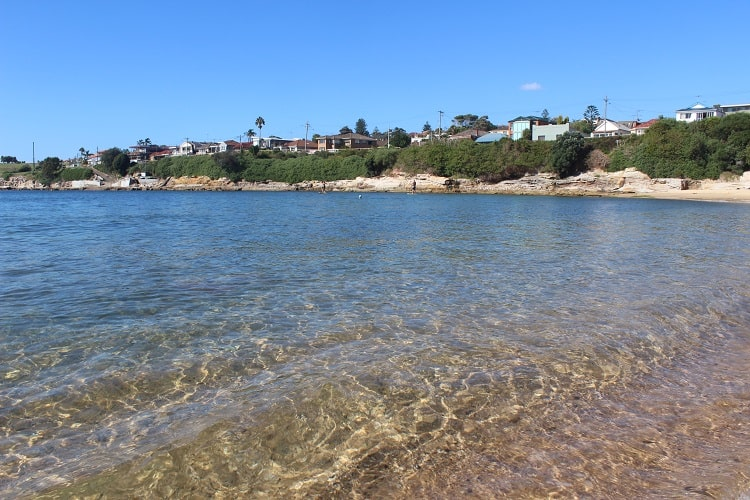 Clear water at SYdney's Malabar Beach in the Eastern Suburbs.