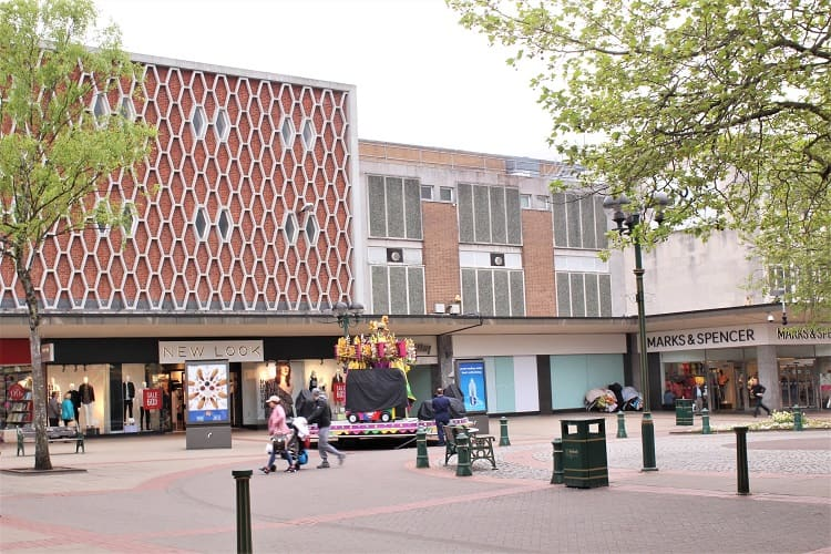 Mell Square in Solihull, UK.