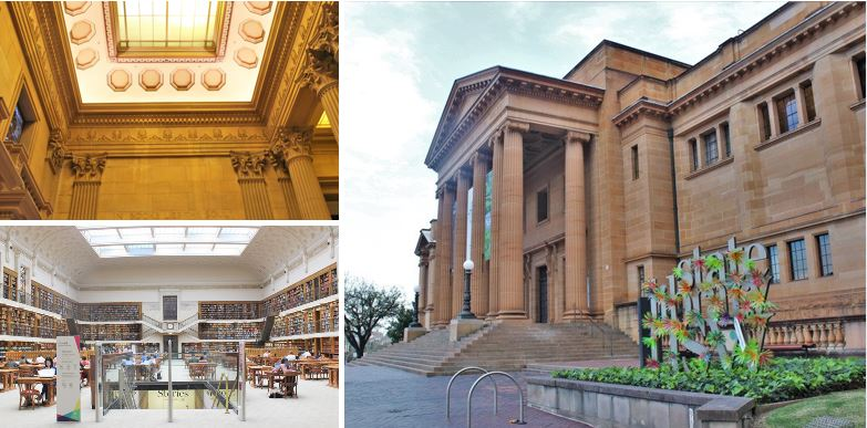 State Library of NSW - historical Australian architecture in Sydney