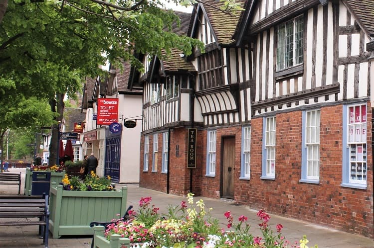 Historical Manor House Tea Rooms in Solihull, UK.