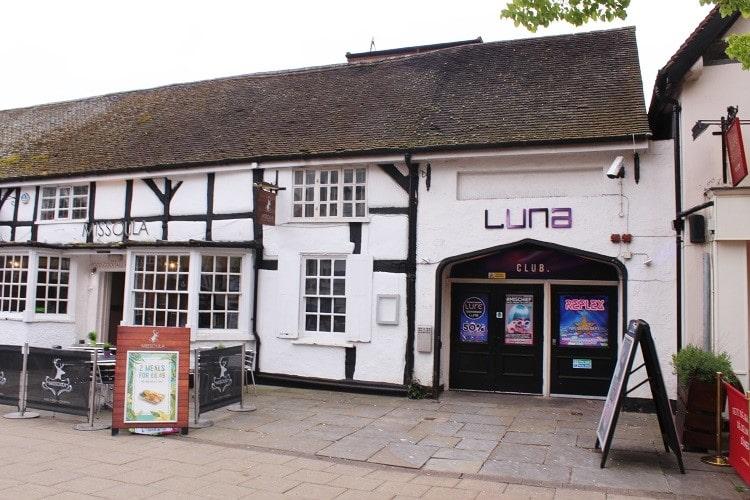Luna nightclub in Solihull, UK.