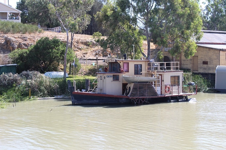 Murray River house boat in South Australia.