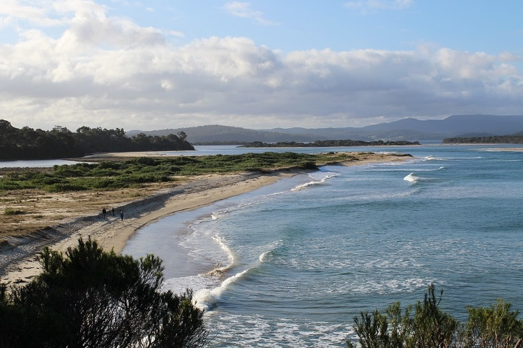 Bastion Point Beach in Mallacoota, Victoria.
