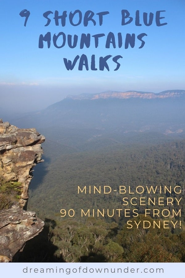 Nine short walks in the Blue Mountains, Australia, just a short drive from Sydney.