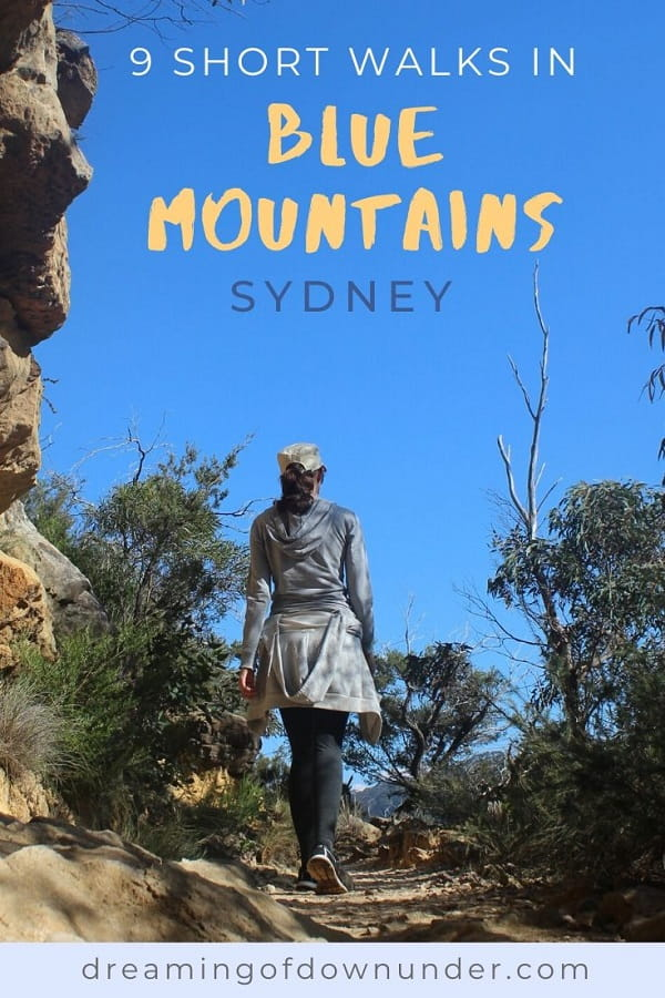 Discover nine short Blue Mountains walks near Sydney Australia. All have stunning scenery, including waterfalls, lookouts, rainforest and cliffs in NSW.