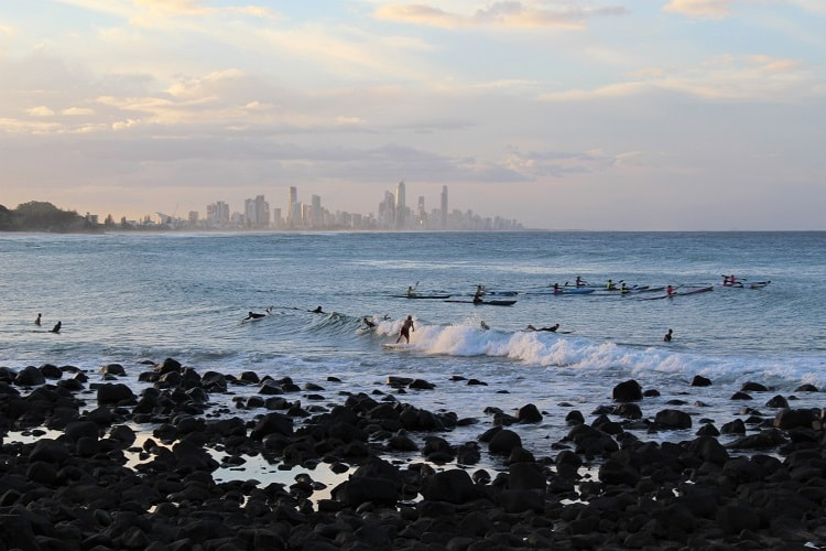 Sunset at Burleigh Hill, Gold Coast - a free Gold Coast attraction on this 3-day itinerary.