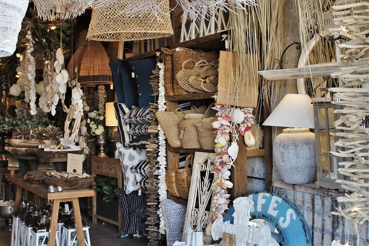 Beautiful Salvage shopping boutique and homeware store at Burleigh Heads.