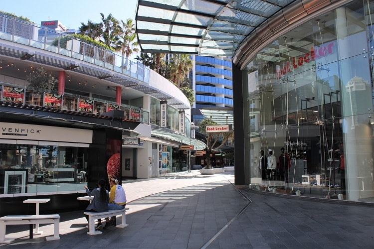 Shops at Surfers Paradise.