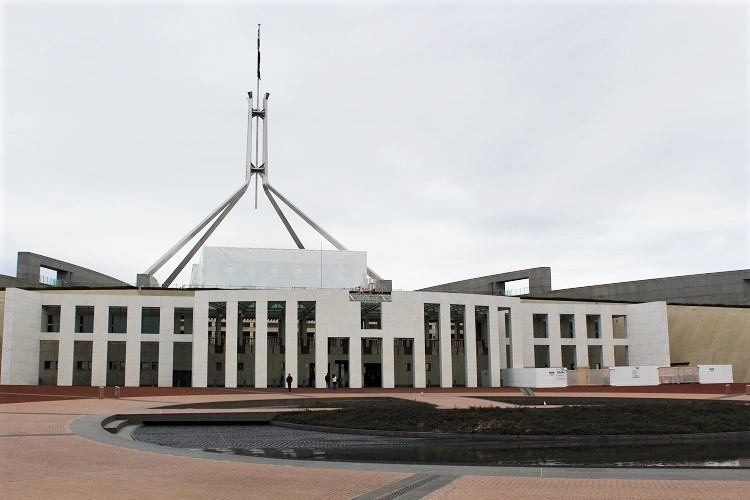 Australia Parliament House in Canberra.