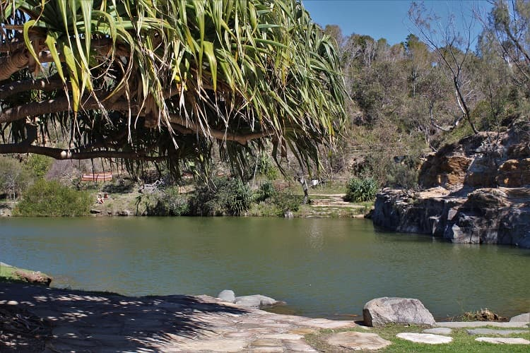 Pretty Angourie Green Pool on a sunny day.