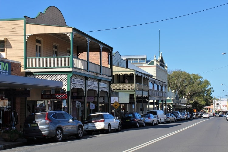 Hyde Street shops on Hyde Street, Bellingen.