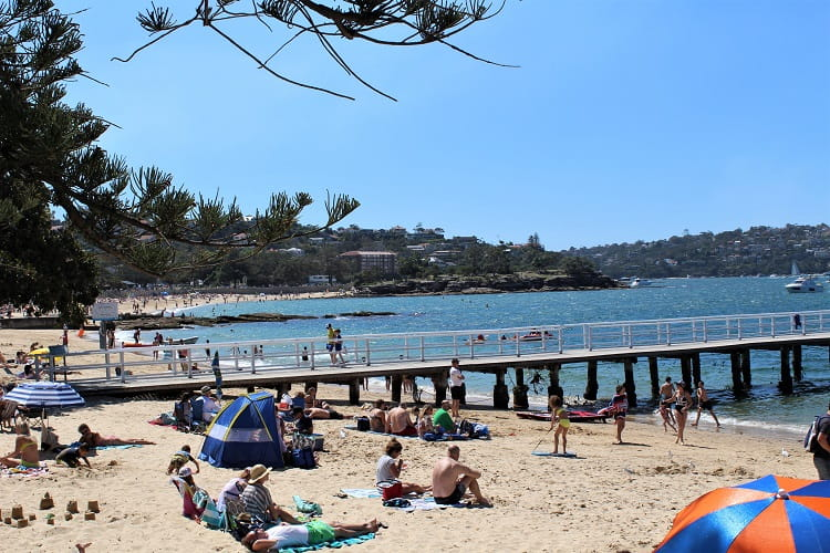 A summer's day at Balmoral Beach - living in Mosman.