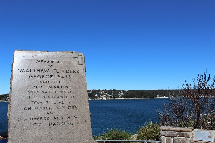Bass and Flinders Point memorial in Cronulla.