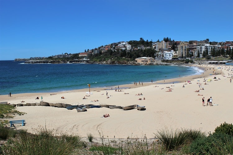 Coogee Beach in Sydney, the start of the Coogee to Bondi coastal walk.