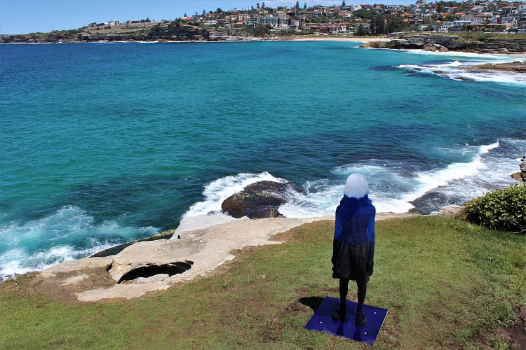 Sculpture on the Bondi to Bronte walk Sydney.