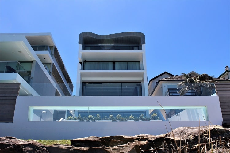 Sydney beach house mansion on the Bondi to Coogee walk.