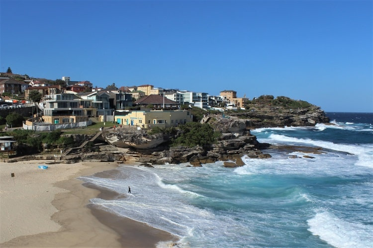 Beautiful Tamarama Beach in Sydney, halfway along the Bondi to Bronte walk.