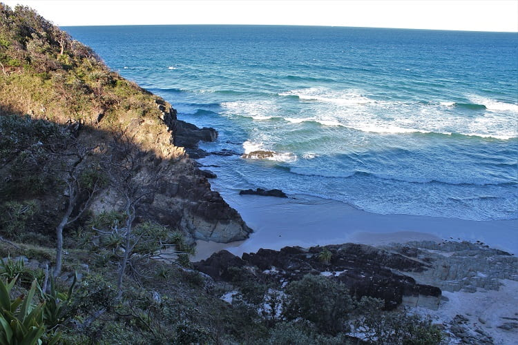 Looking down at Whites Beach NSW.