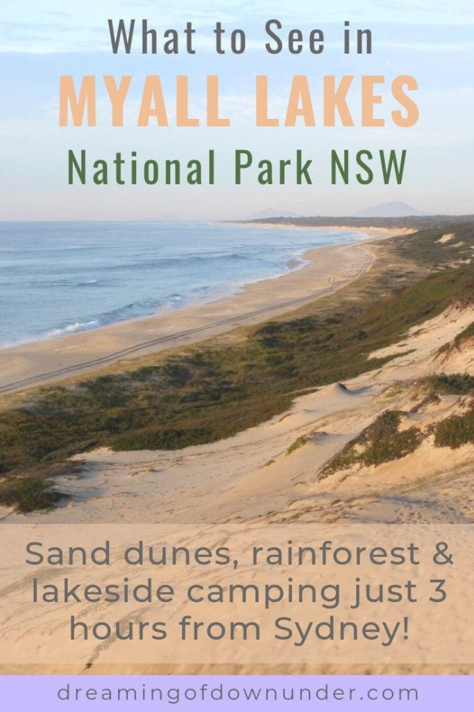 Read about beautiful Mungo Brush camping ground in Myall Lakes National Park, as well nearby NSW attractions such as Booti Booti National Park & Forster.