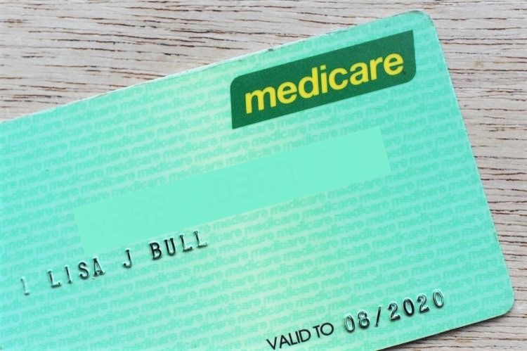 Medicare card in Australia.
