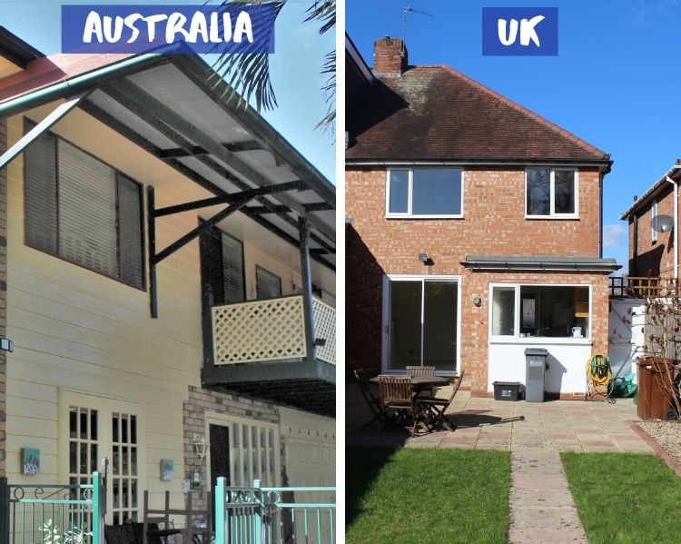 Eaves on an Australian home compared to on a UK home.