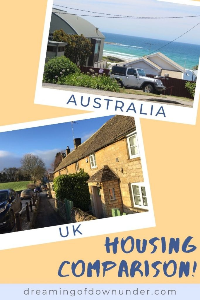 Compare houses in Australia vs homes in the UK: design, architecture, heating and gardens.
