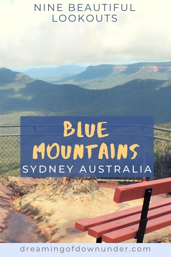 Amazing Blue Mountains lookouts in Sydney, Australia.