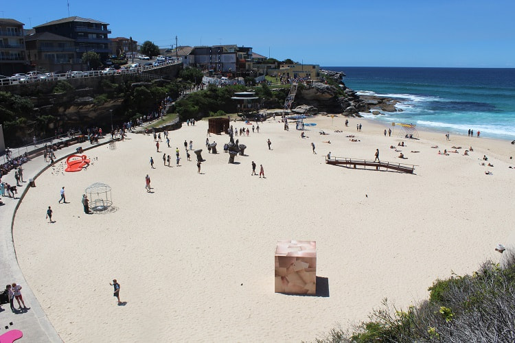 Stunning Tamarama Beach in Sydney during Sculpture by the Sea.