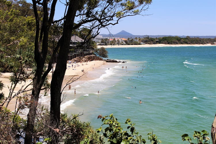 A sunny day at the beach in Noosa, Sunshine Coast, Queensland.