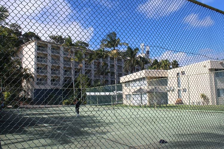 Tennis courts, one of many things to do on Moreton Island, Queensland.
